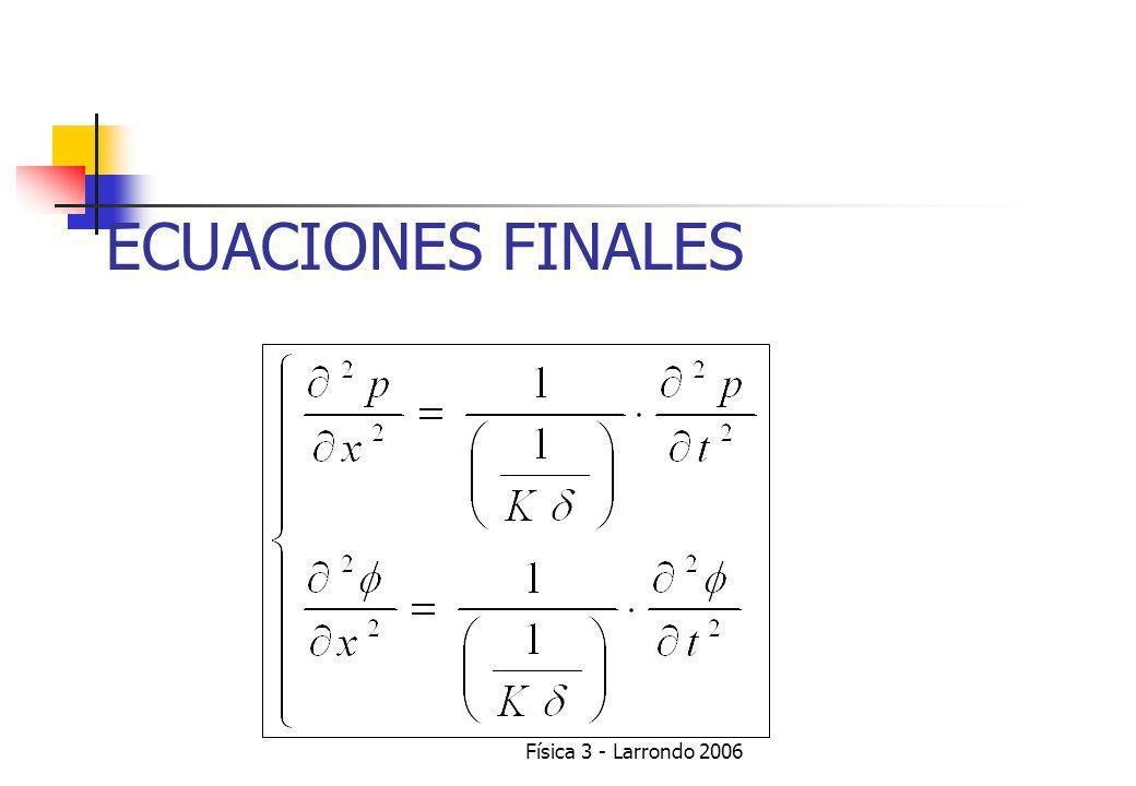 Física 3 - Larrondo 2006 SISTEMA DE ECUACIONES RESULTANTE