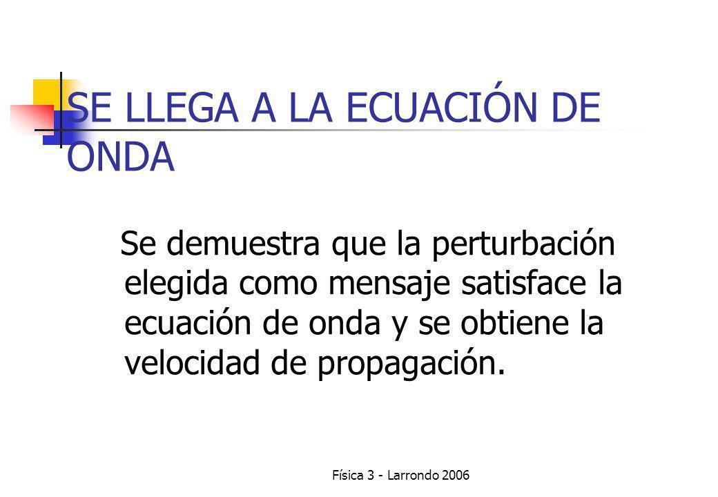 Física 3 - Larrondo 2006 ATENCIÓN!