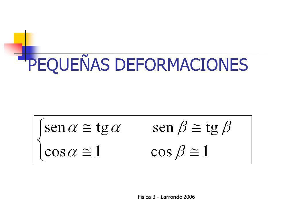 Física 3 - Larrondo 2006 PEQUEÑAS DEFORMACIONES