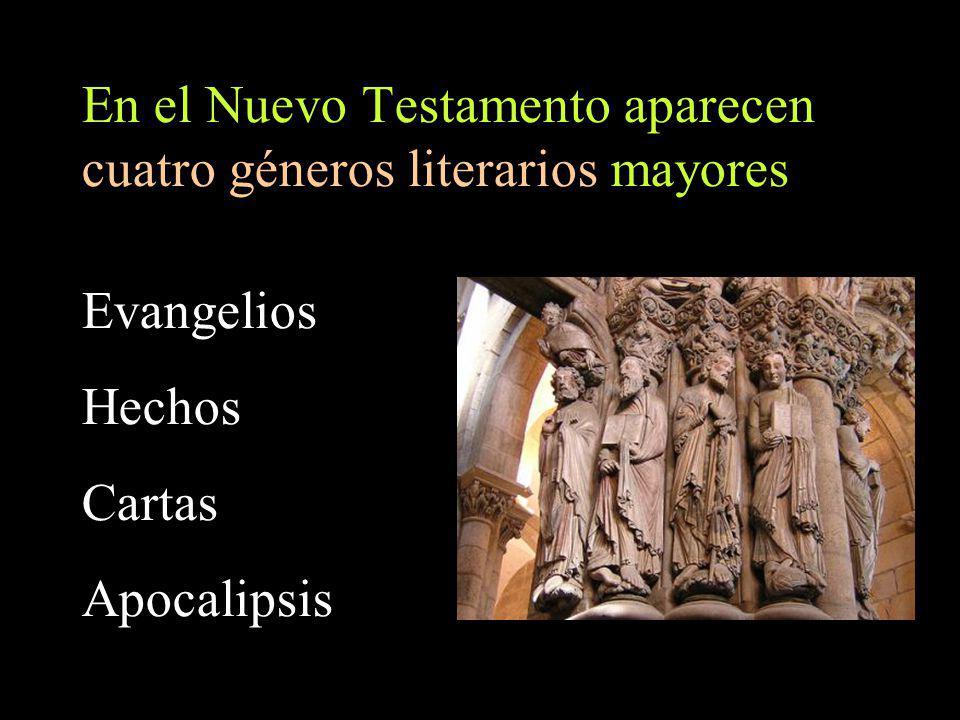 Los libros del Nuevo Testamento pueden ser (re)agrupados también conforme a cuatro corrientes teológicas principales
