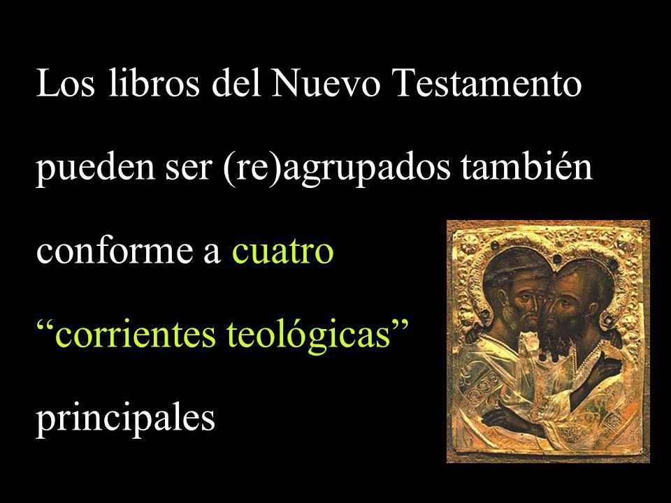 Sinópticos (y Hechos) 4 Cartas Paulinas 14 Textos Juánicos (EvJn - 1,2,3 Jn - Ap) 5 Cartas no-paulinas (Sgo, 1,2 Pe, Jud) 4 27