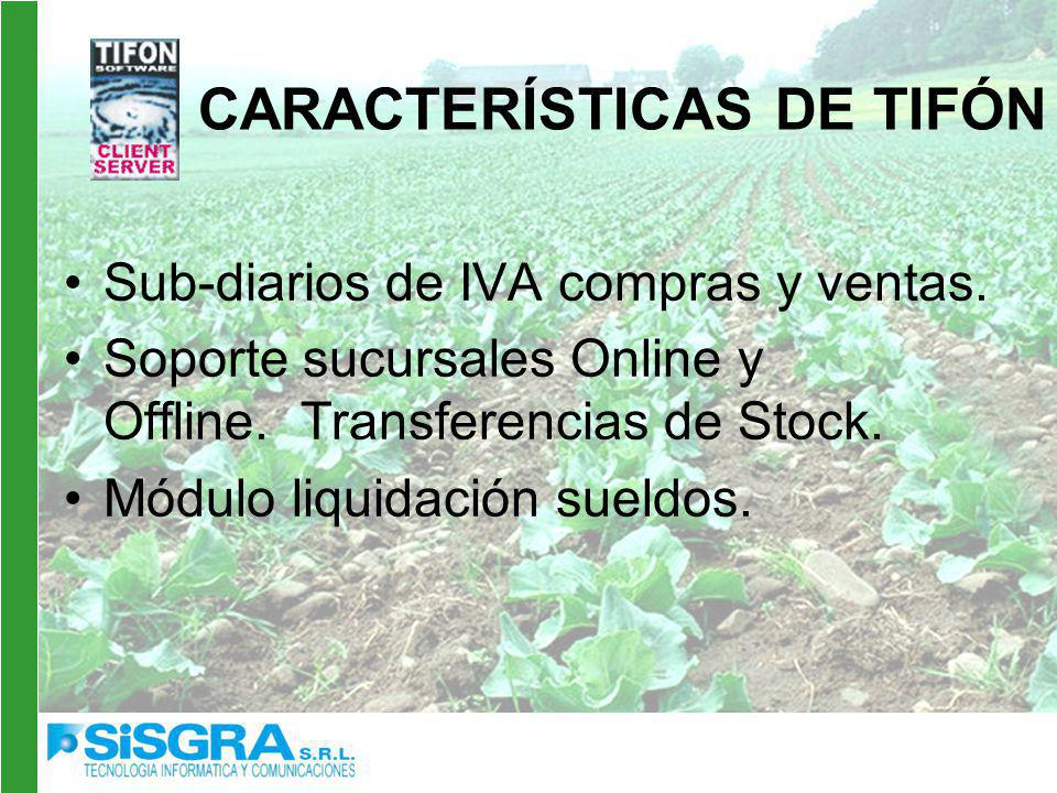 Sub-diarios de IVA compras y ventas.Soporte sucursales Online y Offline.