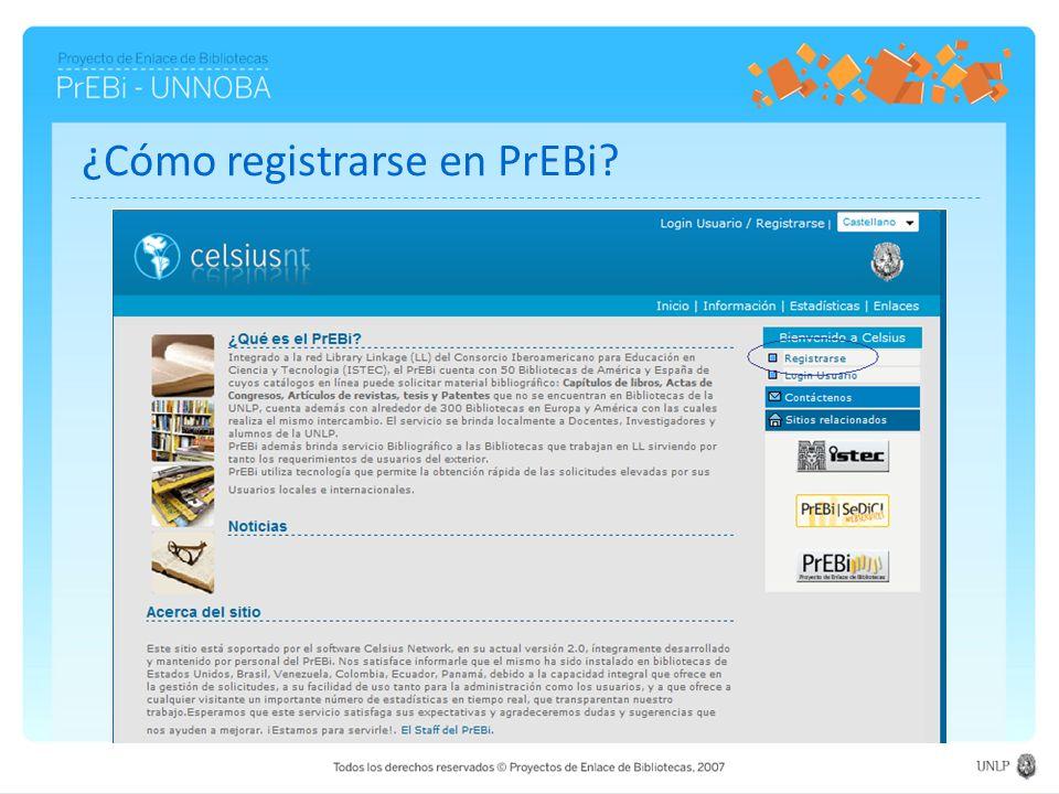¿Cómo registrarse en PrEBi?