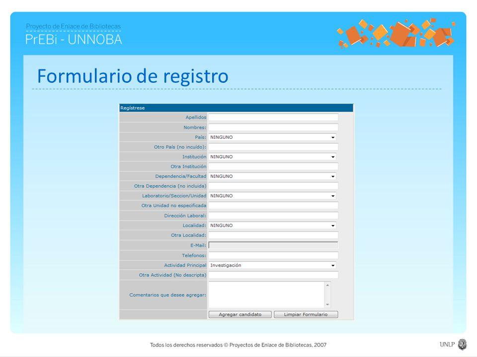 Formulario de registro