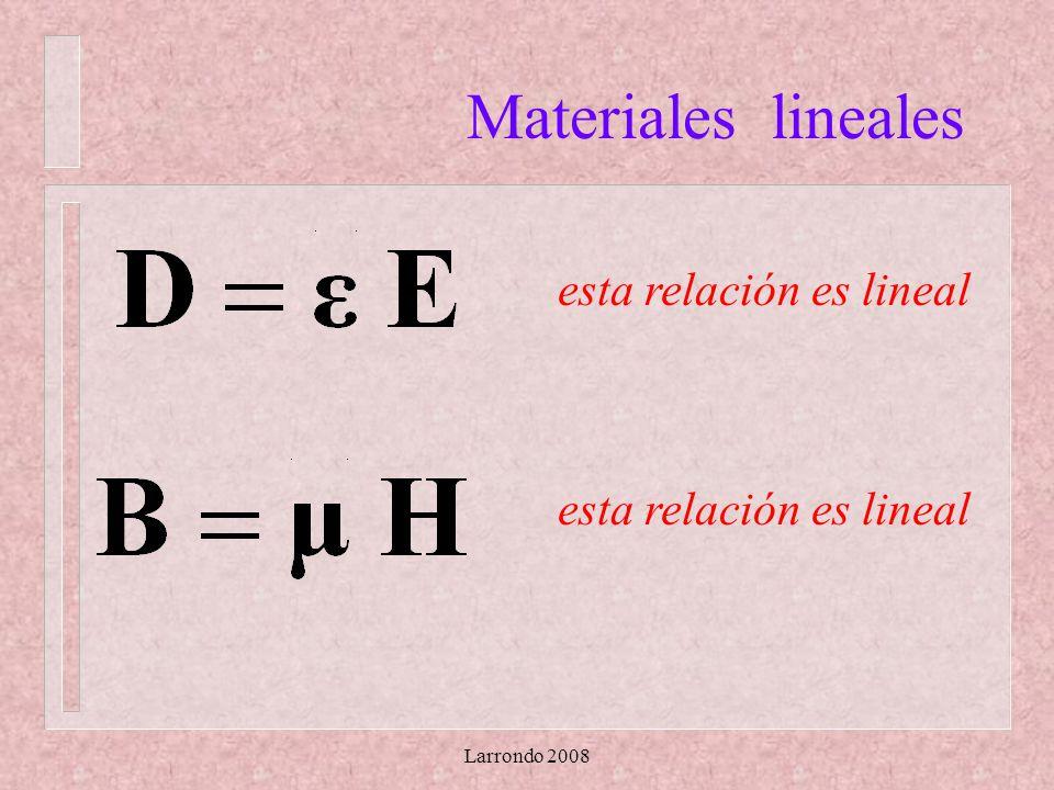 Larrondo 2008 Materiales lineales esta relación es lineal