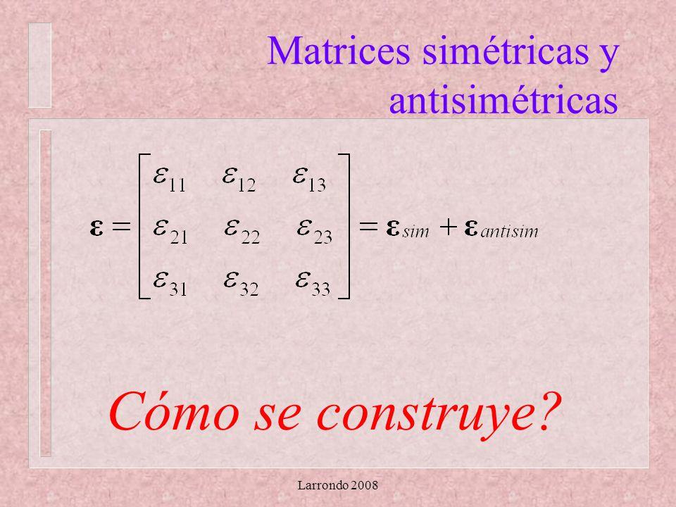 Larrondo 2008 Matrices simétricas y antisimétricas Cómo se construye?