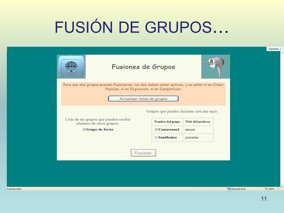 FUSIÓN DE GRUPOS … 11