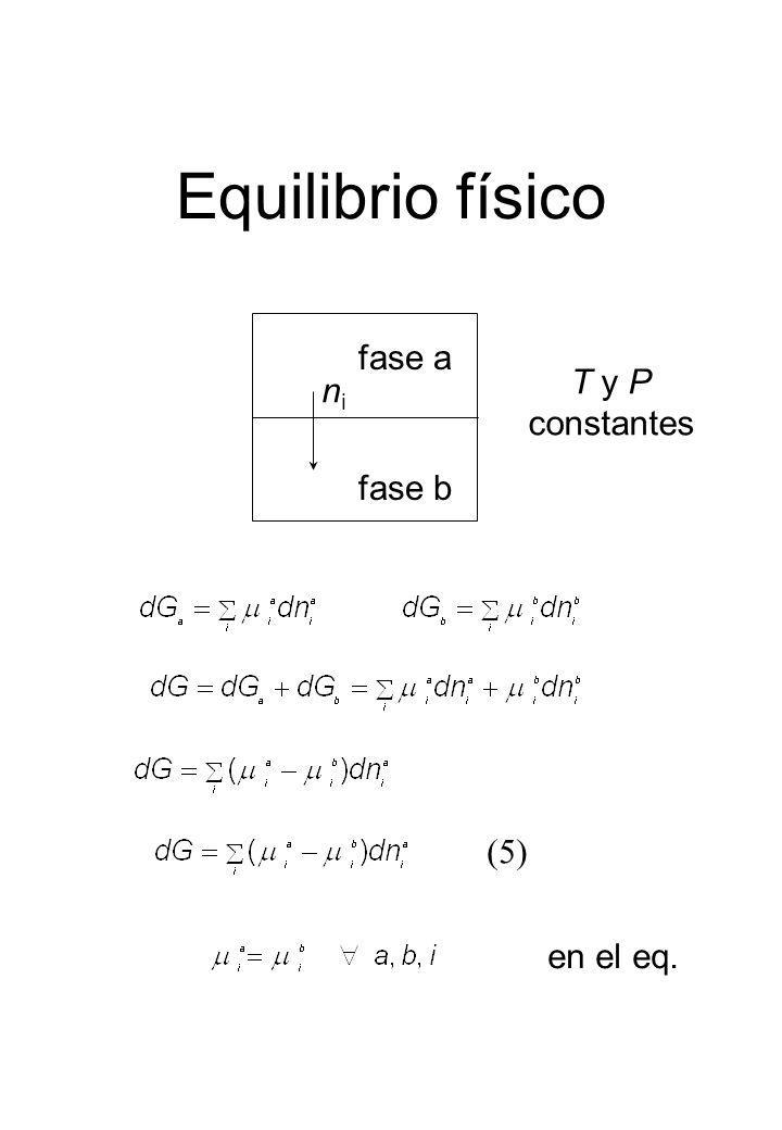 Equilibrio físico fase a fase b nini en el eq. T y P constantes (5)