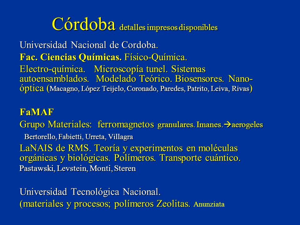 Córdoba detalles impresos disponibles Universidad Nacional de Cordoba.