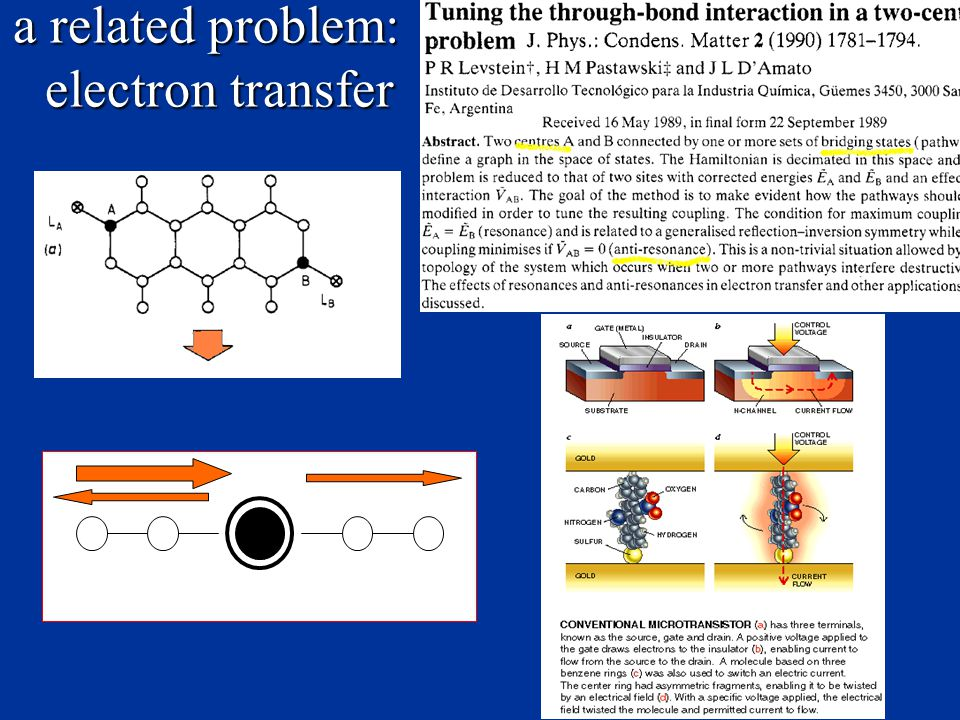 a related problem: electron transfer