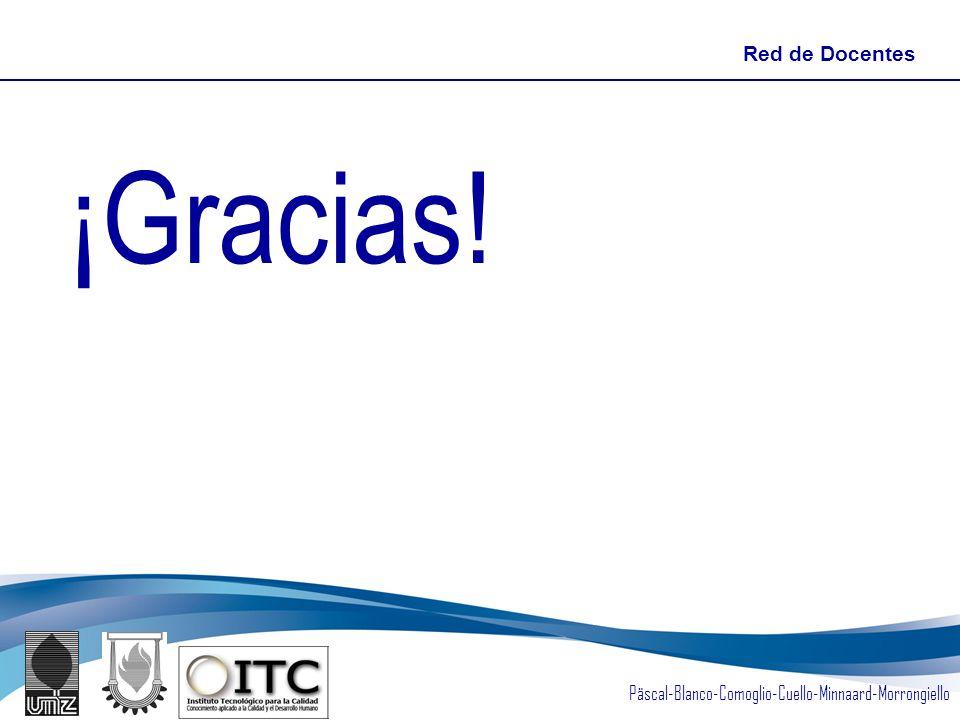 Päscal-Blanco-Comoglio-Cuello-Minnaard-Morrongiello ¡Gracias! Red de Docentes