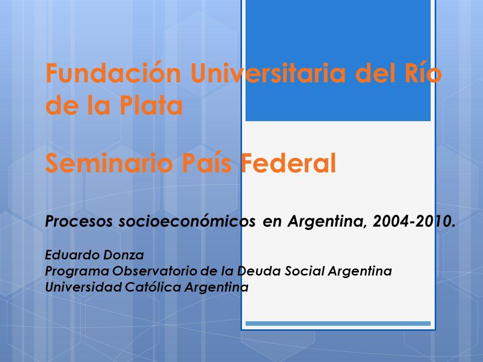Fundación Universitaria del Río de la Plata Seminario País Federal Procesos socioeconómicos en Argentina, 2004-2010.