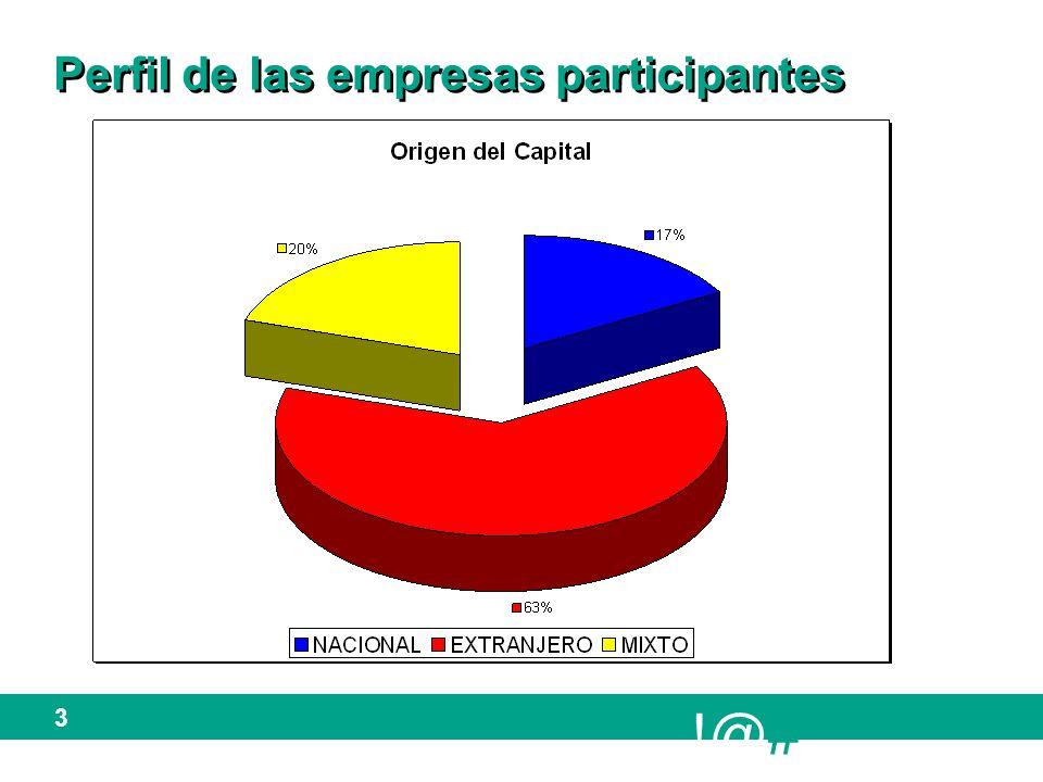 !@# 4 Perfil de las empresas participantes (cont..)