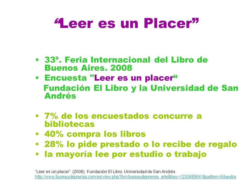 Leer es un Placer 33ª.Feria Internacional del Libro de Buenos Aires.