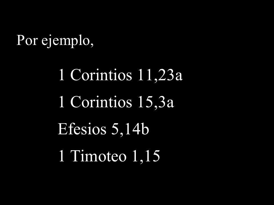 Por ejemplo, comparar… Juan 19,18 con Juan 19,23-24