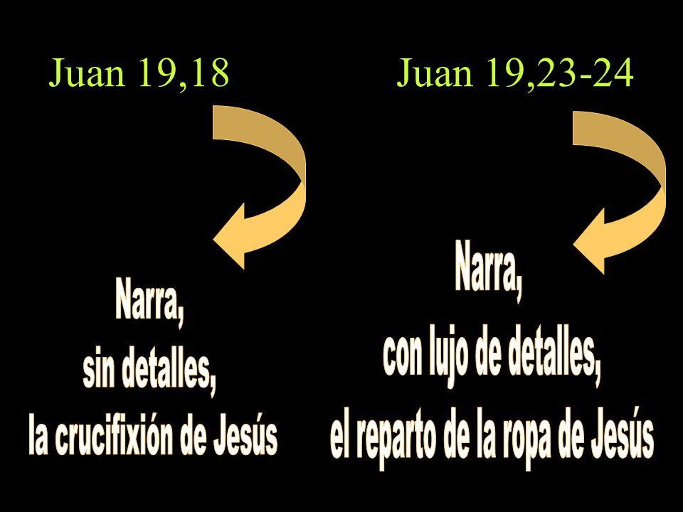 Juan 19,18 Juan 19,23-24
