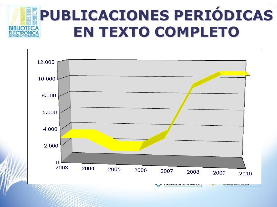 PUBLICACIONES PERIÓDICAS EN TEXTO COMPLETO
