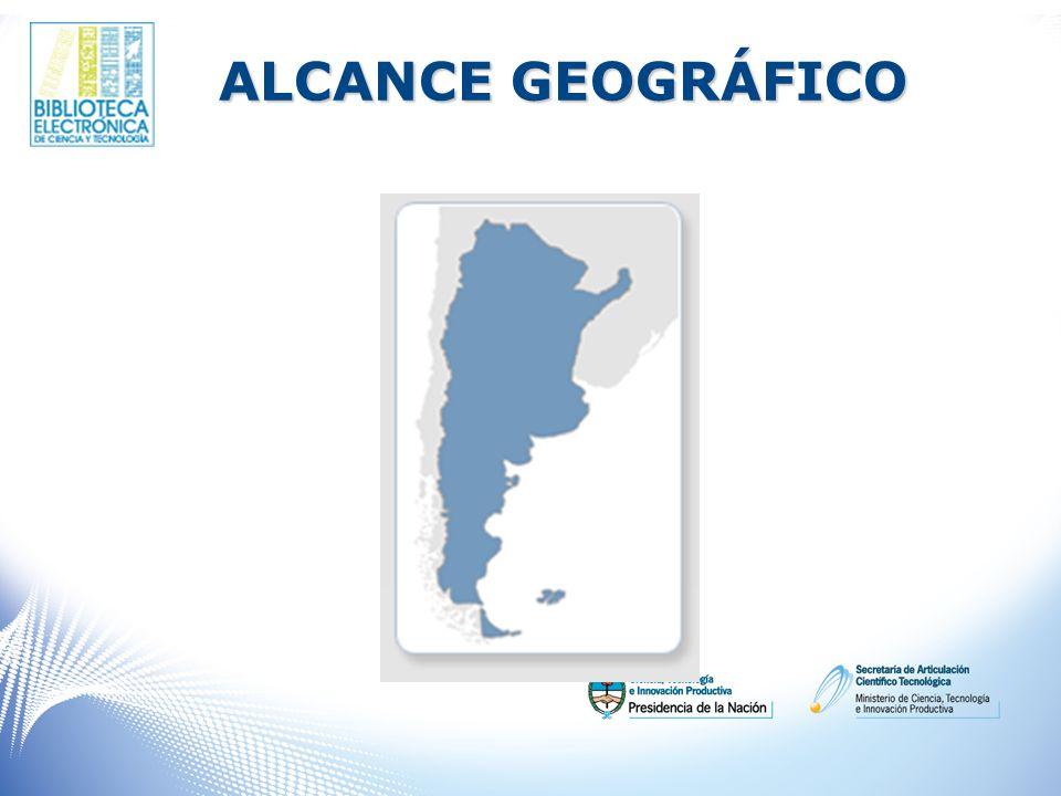 ALCANCE GEOGRÁFICO