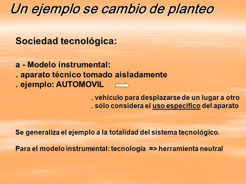 Se generaliza el ejemplo a la totalidad del sistema tecnológico.