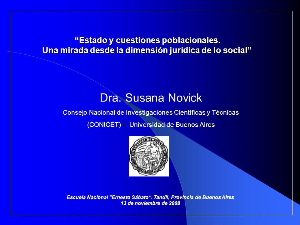 El objetivo de esta presentación consiste en relatarles mi trayectoria personal como investigadora en el ámbito de las Ciencias Sociales: estudios, proyectos realizados, actuación en diferentes instituciones, formación de recursos humanos, etc.