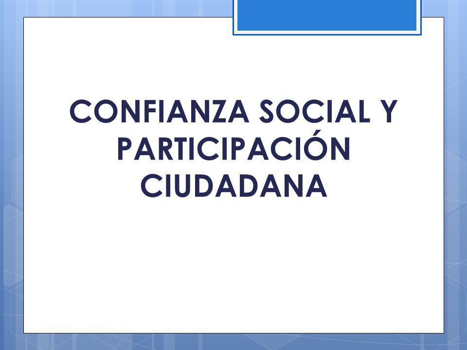 CONFIANZA SOCIAL Y PARTICIPACIÓN CIUDADANA