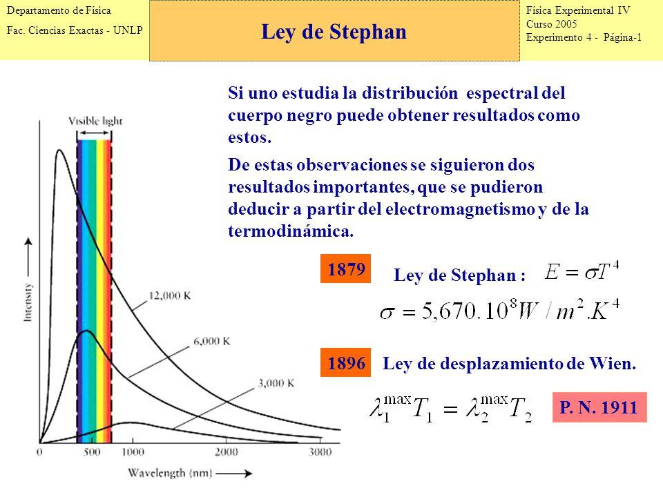 Física Experimental IV Curso 2005 Experimento 4 - Página-1 Departamento de Física Fac.