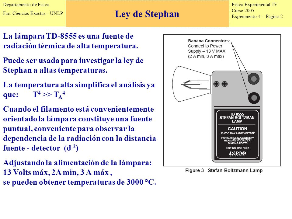 Física Experimental IV Curso 2005 Experimento 4 - Página-2 Departamento de Física Fac.