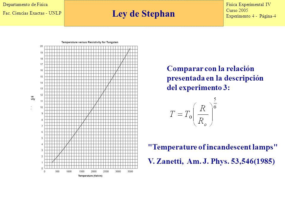 Física Experimental IV Curso 2005 Experimento 4 - Página-4 Departamento de Física Fac.