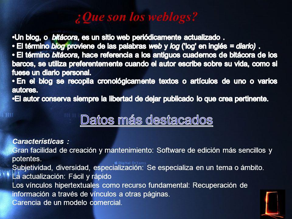 Relación entre Weblogs y periodismo.