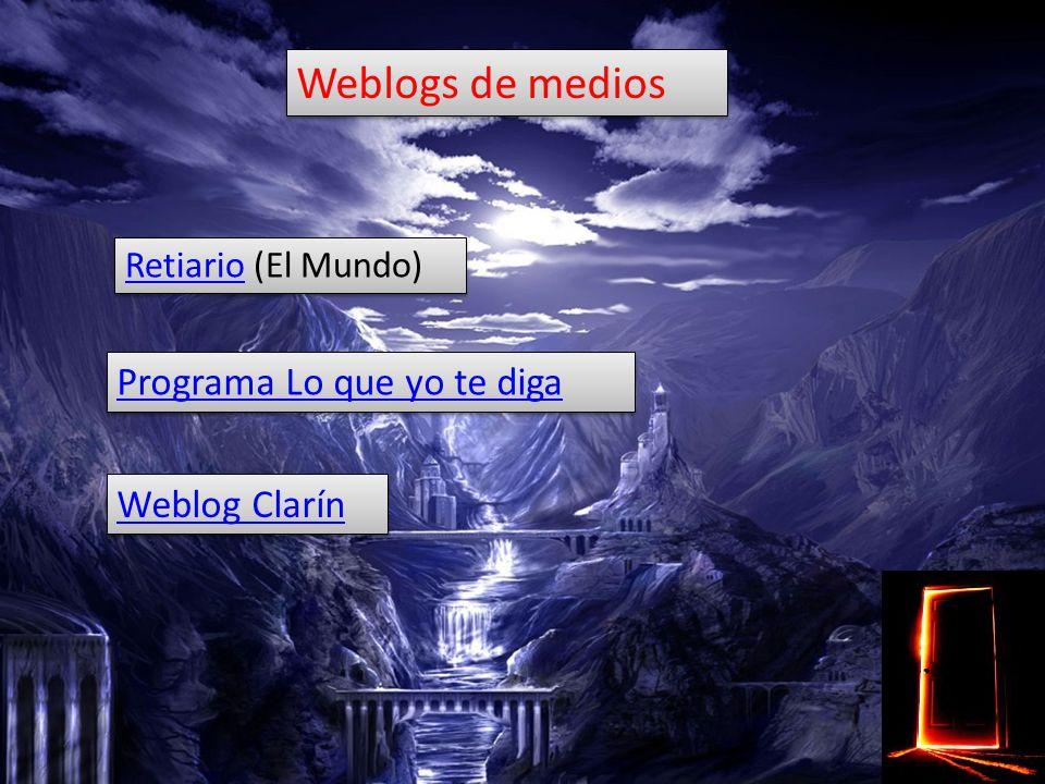 Weblogs institucionales Los sitios web corporativos e institucionales pueden beneficiarse de las bitácoras como un medio ágil para mantener su atractivo y ofrecer contenidos actualizados.