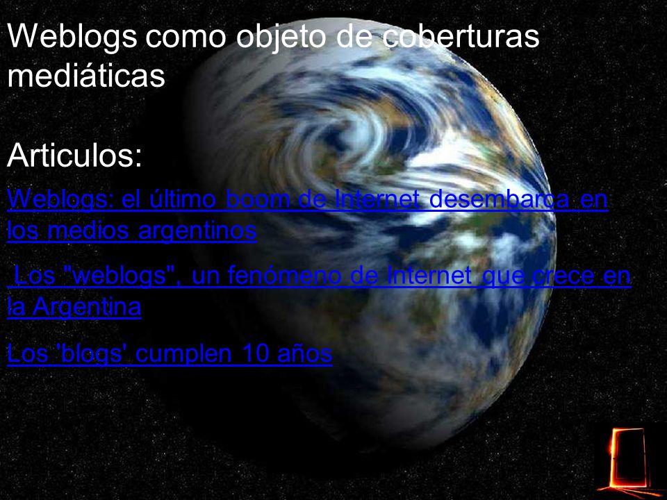 Weblogs políticos Ejemplos: Diputado Francisco Sellares Prensa de la Senadora Amanda Isidori Pere Macias Actualidad Política Hablando de Política