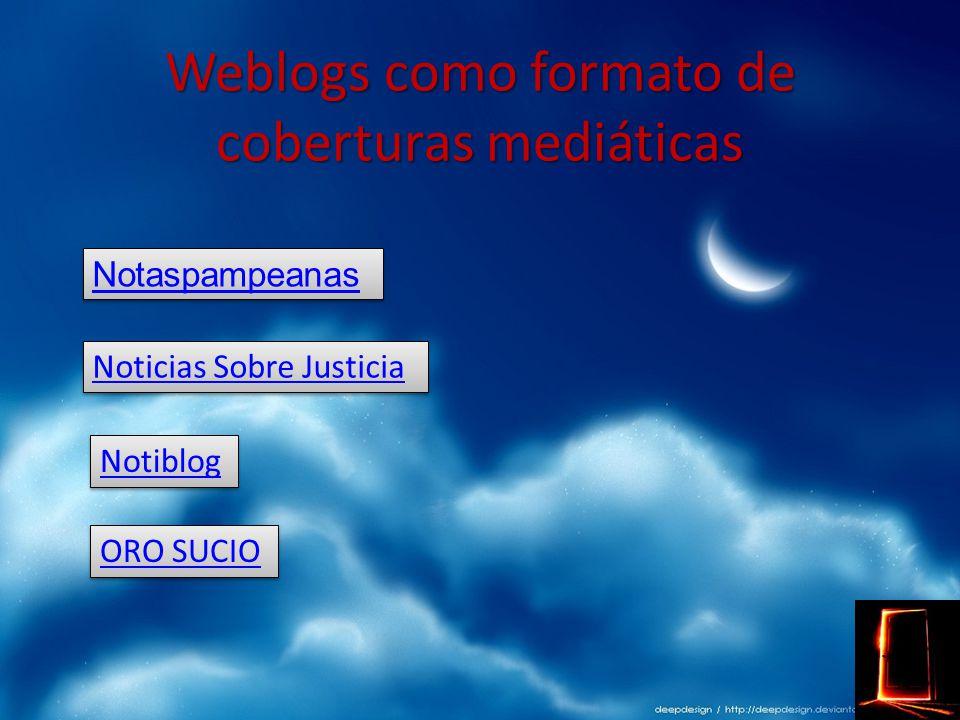Weblog particulares sobre Actualidad Weblog particulares sobre Actualidad Weblog particulares sobre Actualidad Weblog particulares sobre Actualidad En este tipo de blog es donde se ve reflejada la necesidad del usuario de contar el mundo según su particular, subjetiva y parcial visión.