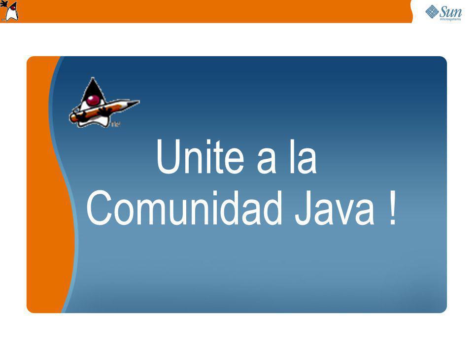 Unite a la Comunidad Java !