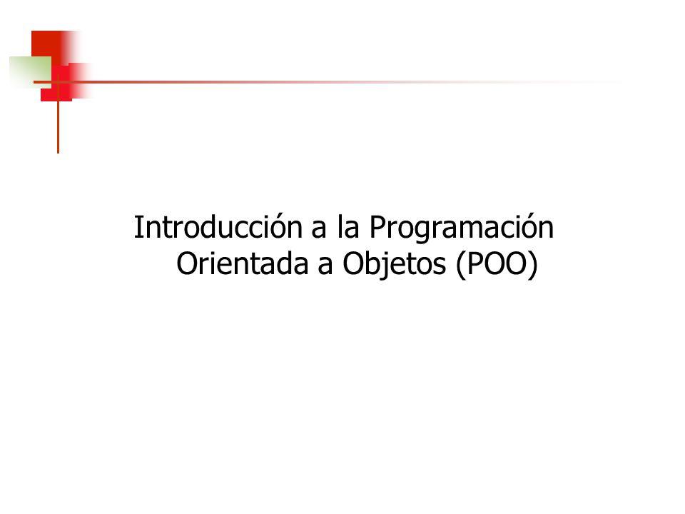 La orientación a objetos fomenta que los programadores y usuarios piensen sobre las aplicaciones en términos abstractos.