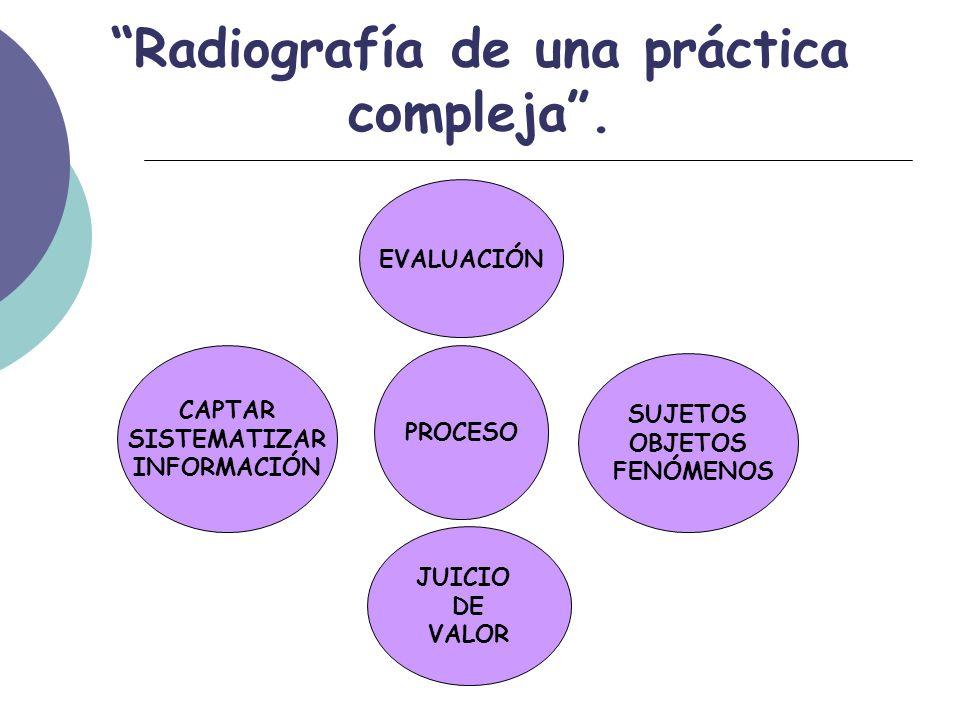 Radiografía de una práctica compleja.