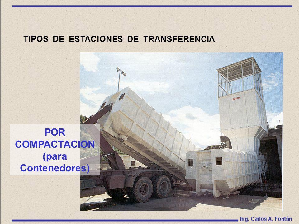TIPOS DE ESTACIONES DE TRANSFERENCIA POR COMPACTACION (para Contenedores)