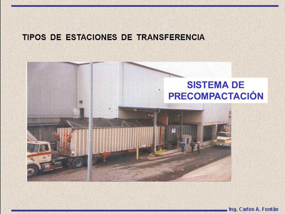 TIPOS DE ESTACIONES DE TRANSFERENCIA SISTEMA DE PRECOMPACTACIÓN