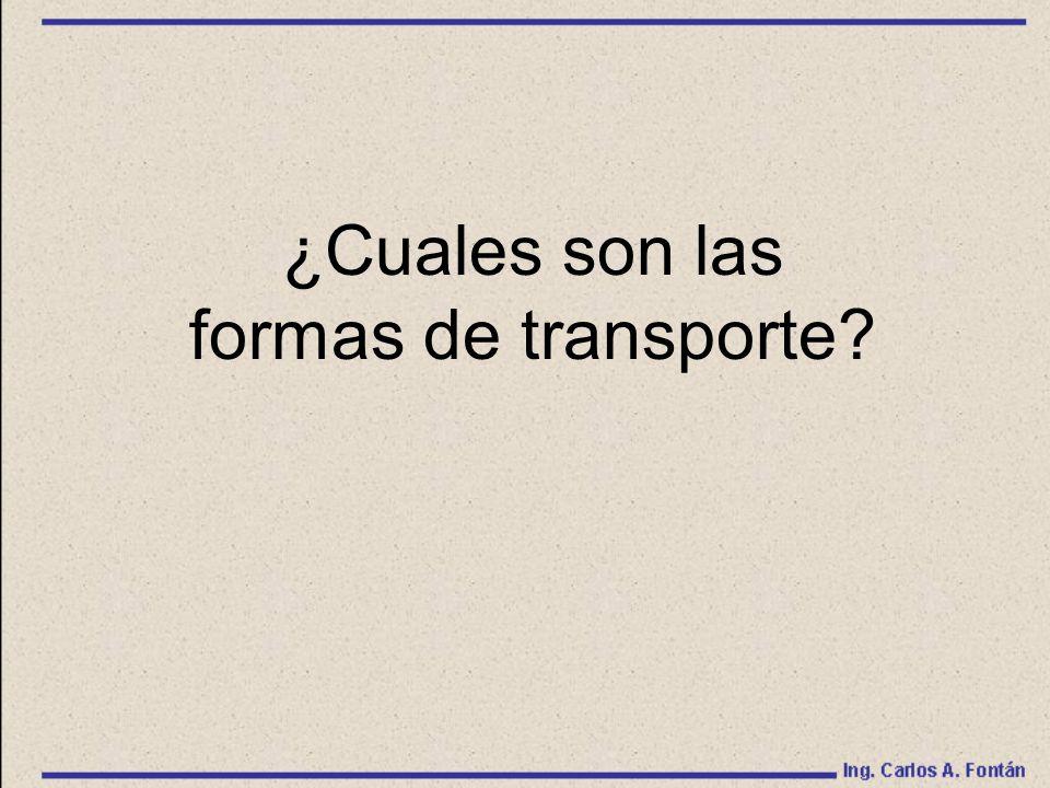 ¿Cuales son las formas de transporte?