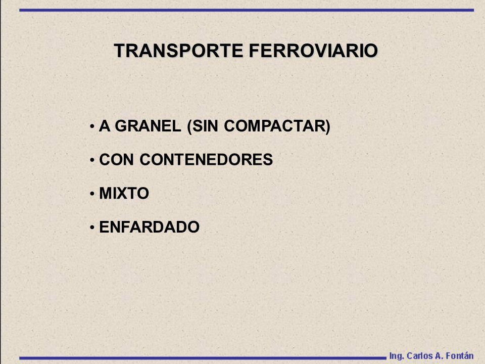TRANSPORTE FERROVIARIO A GRANEL (SIN COMPACTAR) CON CONTENEDORES MIXTO ENFARDADO