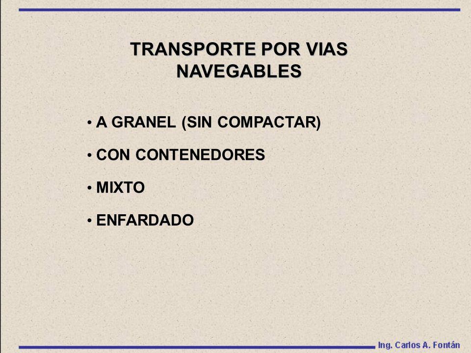 TRANSPORTE POR VIAS NAVEGABLES A GRANEL (SIN COMPACTAR) CON CONTENEDORES MIXTO ENFARDADO