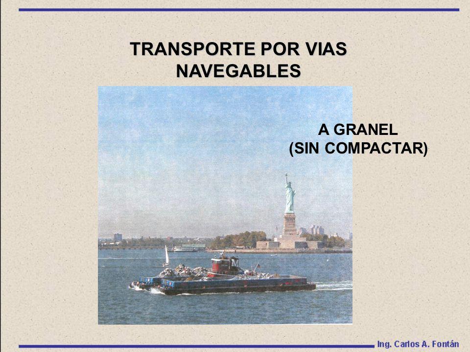 TRANSPORTE POR VIAS NAVEGABLES A GRANEL (SIN COMPACTAR)