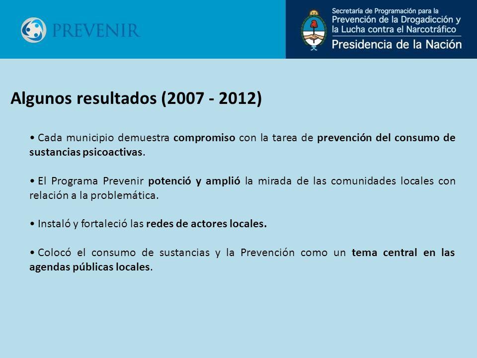 Cada municipio demuestra compromiso con la tarea de prevención del consumo de sustancias psicoactivas. El Programa Prevenir potenció y amplió la mirad
