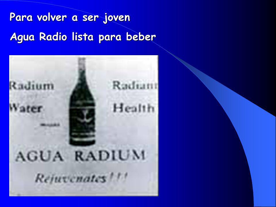 Para volver a ser joven Agua Radio lista para beber