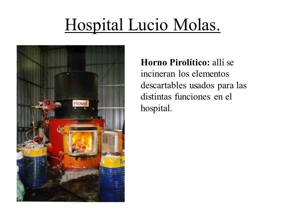 Hospital Lucio Molas. Horno Pirolítico: allí se incineran los elementos descartables usados para las distintas funciones en el hospital.