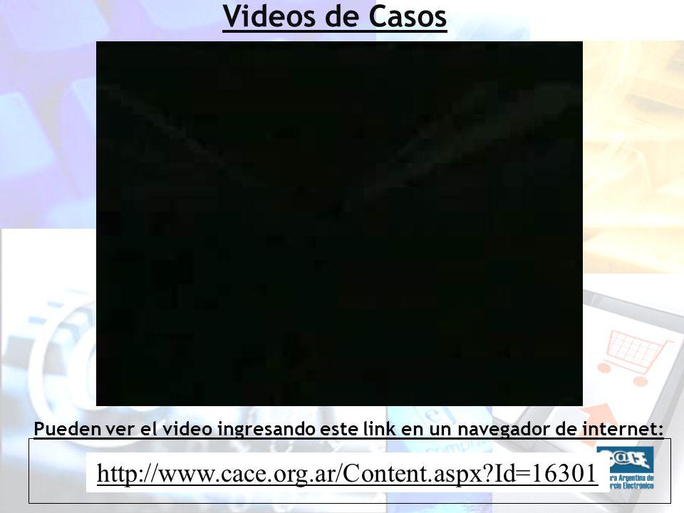http://www.cace.org.ar/Content.aspx Id=16301 Pueden ver el video ingresando este link en un navegador de internet: Videos de Casos