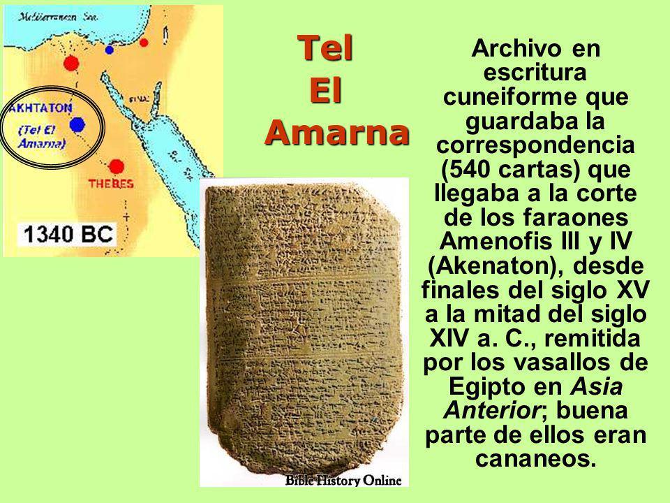 Archivo en escritura cuneiforme que guardaba la correspondencia (540 cartas) que llegaba a la corte de los faraones Amenofis III y IV (Akenaton), desde finales del siglo XV a la mitad del siglo XIV a.