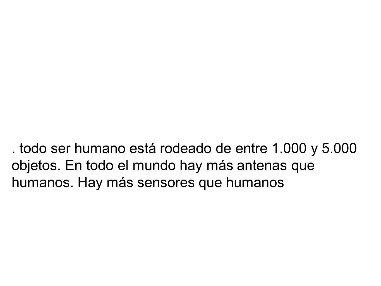 todo ser humano está rodeado de entre 1.000 y 5.000 objetos.