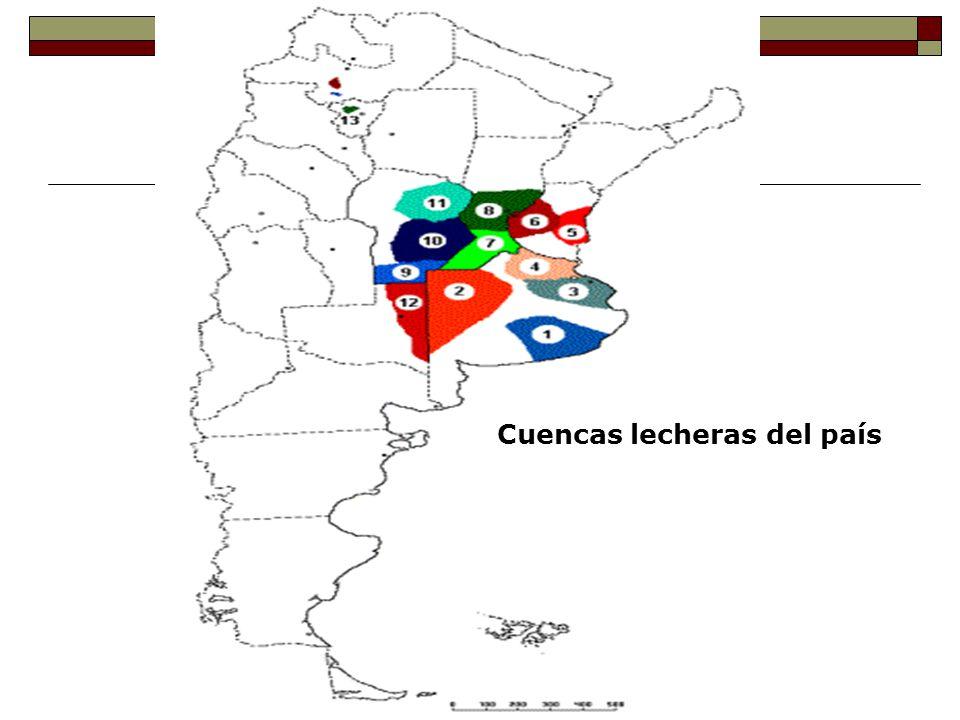Cuenca Mar y Sierras 200 tambos (9% del Total de Tambos) 13% producción láctea del país industrias grandes y PyMes queseras 95 % Holstein, 5 % Jersey HxJClima Temperaturas: Temp.