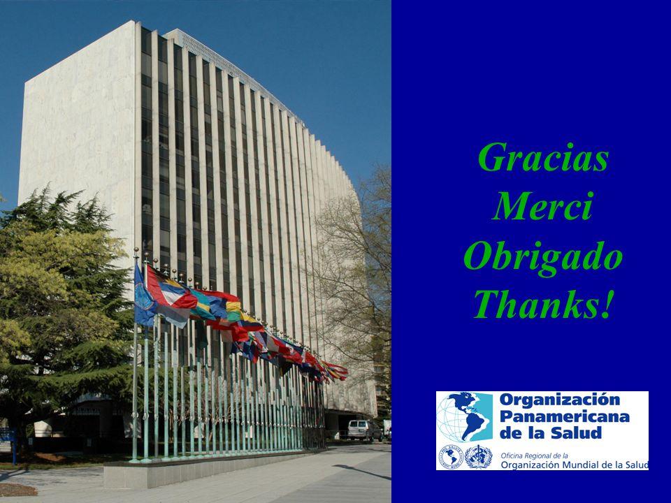 Gracias Merci Obrigada Thanks Trabajando para mejorar la salud de las Américas.