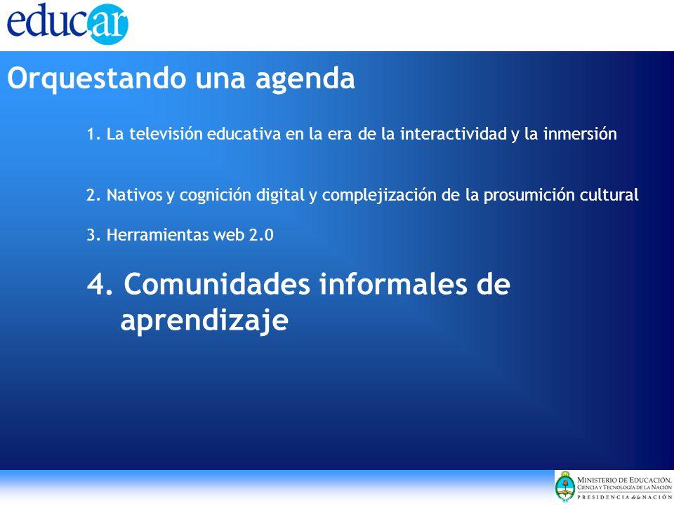1. La televisión educativa en la era de la interactividad y la inmersión 2. Nativos y cognición digital y complejización de la prosumición cultural 3.